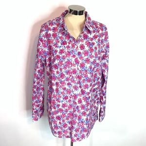 NWT Talbots fora popover top w button side detail